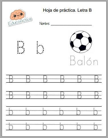 Práctica letra B