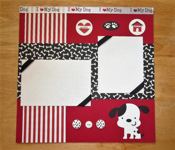Dog Scrapbook Page  Dog Scrapbook Layout  12 by AngelBDesigns4You