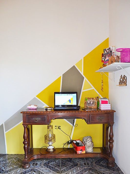 Livre Leve Livro: Pintar paredes com formas geométricas - Decorando o quarto