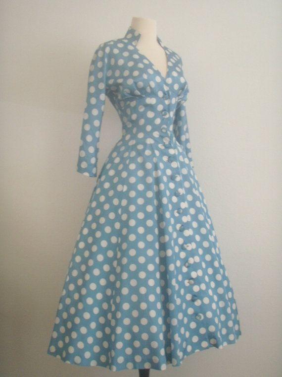 vintage polka dot swing dress.