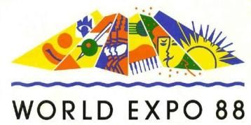 The popular World Expo 88 Sun-sails logo was designed by Cato Purnell Partners.
