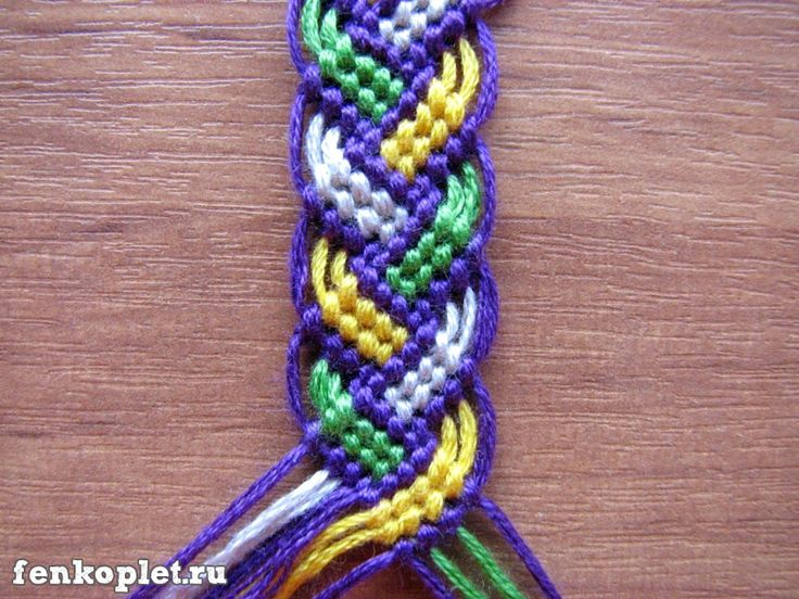 How to DIY Friendship Bracelet leaves Pattern