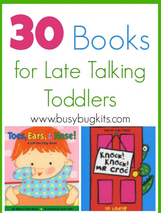 Books for Late Talking Toddlers
