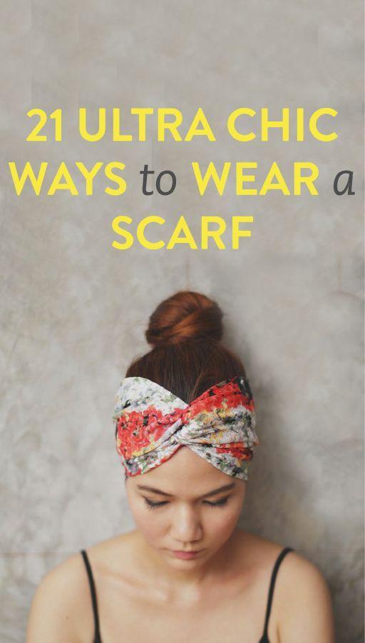 21 stylish ways to wear a scarf