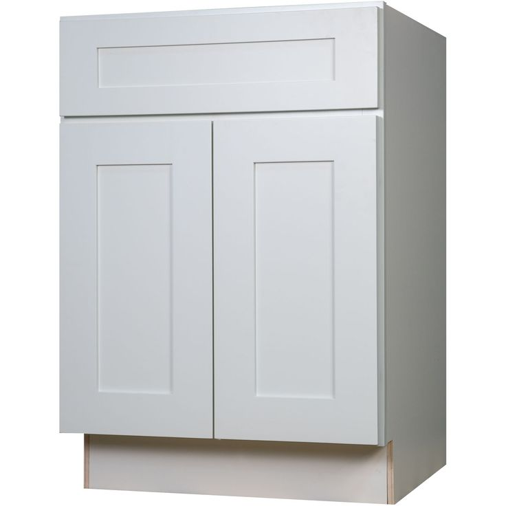 Best 24 Inch Base Cabinet In Bright White Shaker With 1 Soft 400 x 300