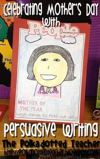 The Polka Dotted Teacher: writing. Mother's Day: Mothers S Father, Polka Dots Teacher, Mothers Day, Language Art, Persuasive Writing, Persua Writing, Writing Ideas, People Magazines, Writing Activities
