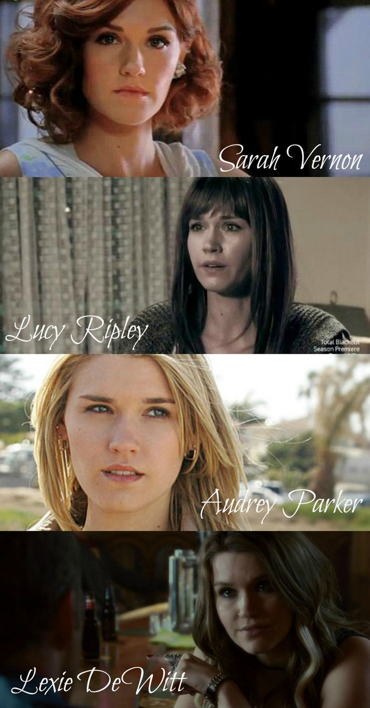 Who am I? The many faces of Audrey Parker. Except Mara, but ya know, she's evil. I love Emily Rose. Phenomenal Actress.