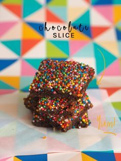 Chocolate Slice. Just like grandma used to make. - Fat Mum Slim