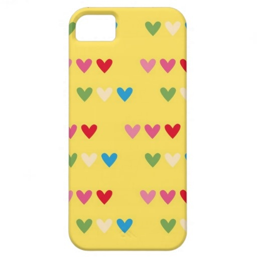 Retro hearts 80s candy striped heart kawaii cute iPhone 5 cases