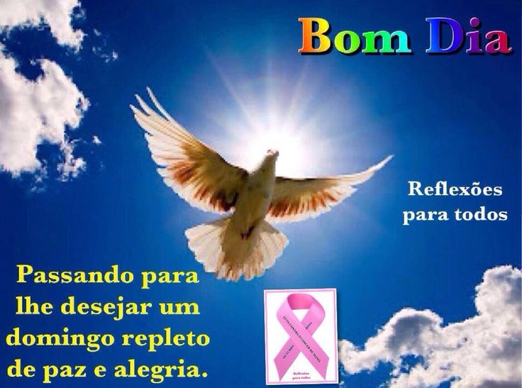 """Bom dia! Tenha um domingo repleto de felicidade. Conheça a campanha """"OUTUBRO ROSA"""" (contra o câncer de mama)."""