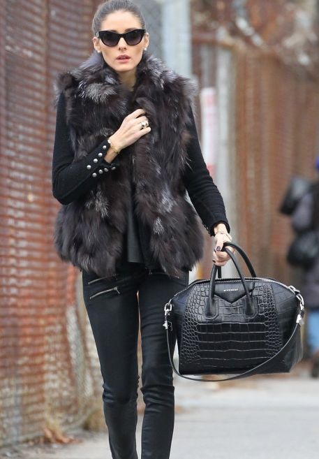 Olivia Palermo with a Givenchy Antigona