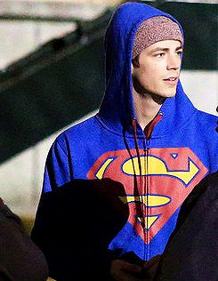 Grant Gustin on a night shoot for 'The Flash' in Vancouver, October 16