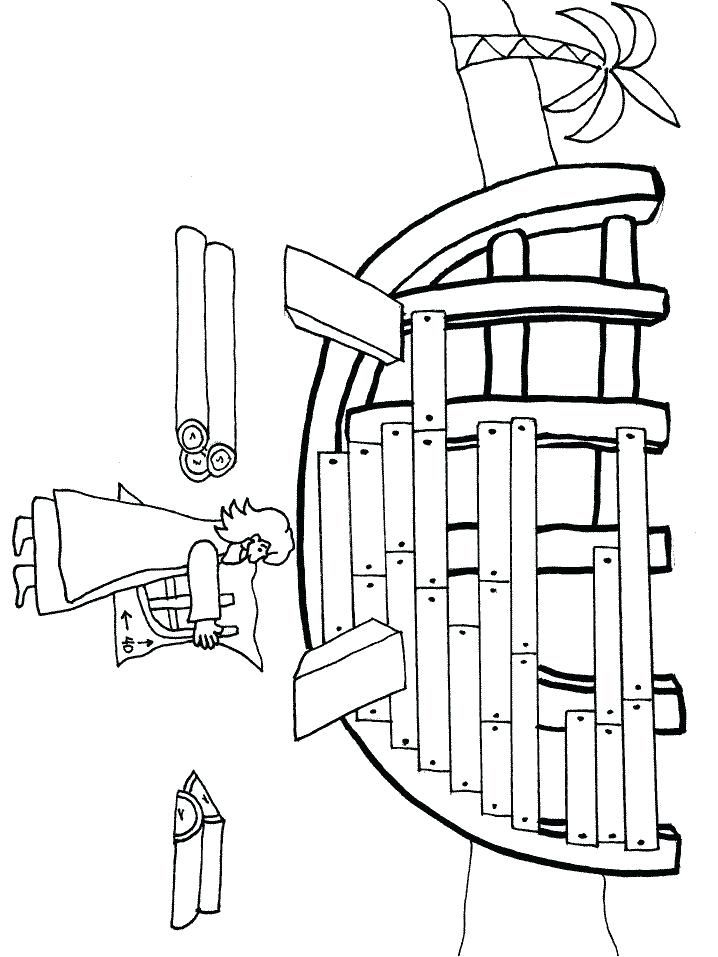 Ark Coloring Page Pages Animals Plus Built The Full Size Of Noahs
