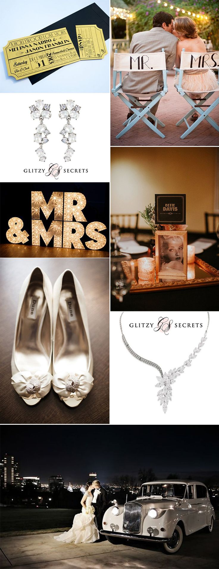 When it comes to glamorous wedding themes, an old Hollywood movie inspired day has to be at the top of any list...