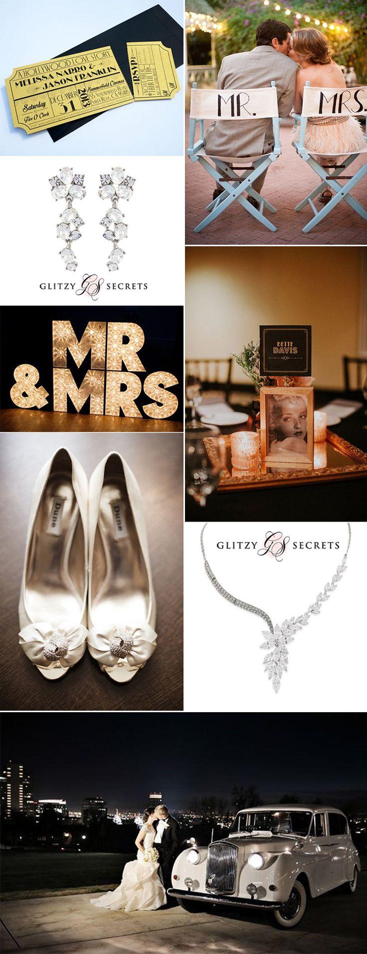 A 1940s Old Hollywood Movie Theme wedding on GS Inspiration - Glitzy Secrets