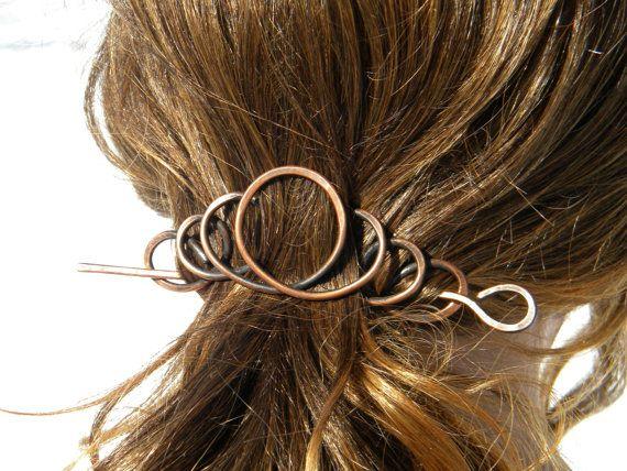 Copper, Hair Clip, Barrette, Hair Accessories, Sticks, Hair Slide, Hair Stick, Hair Pin, Hair Comb, Wedding, Pins, Gift, Bridal Hairpiece, on Etsy, $21.50