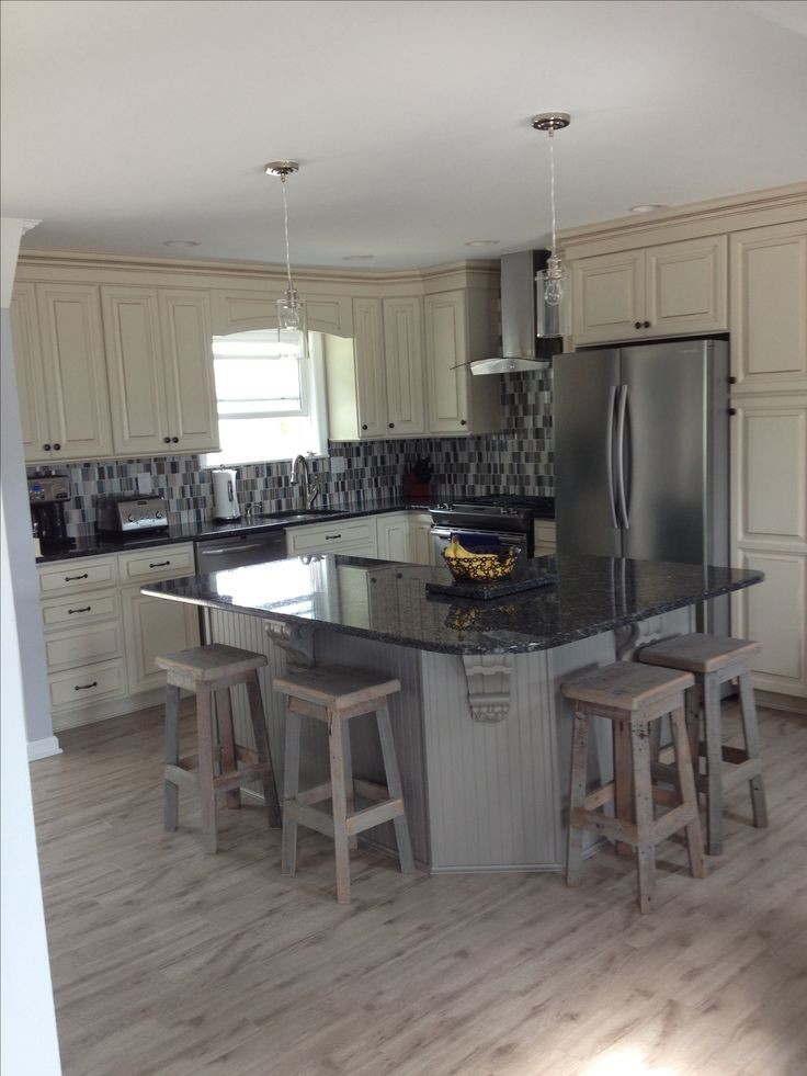 1000 images about kitchen redo on pinterest video home - Cream distressed kitchen cabinets ...