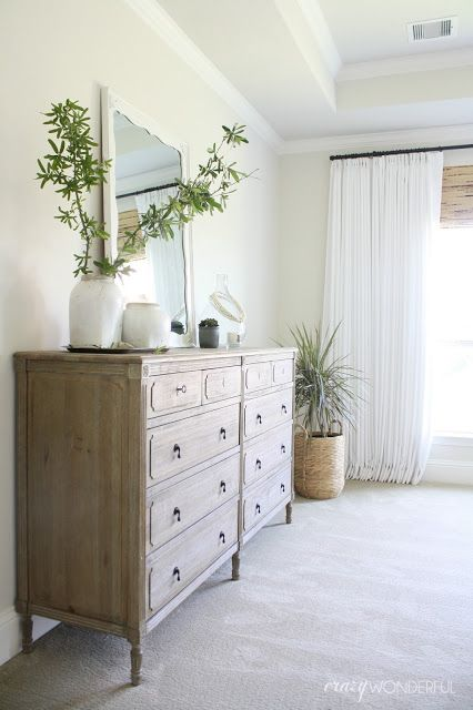 bedroom dresser, light wood chest of drawers, Restoration Hardware Louis XVI dresser, dresser styling