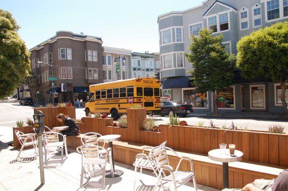 Parklets Keep Popping Up Along Valencia, Divisadero and Columbus Corridors | Streetsblog San Francisco