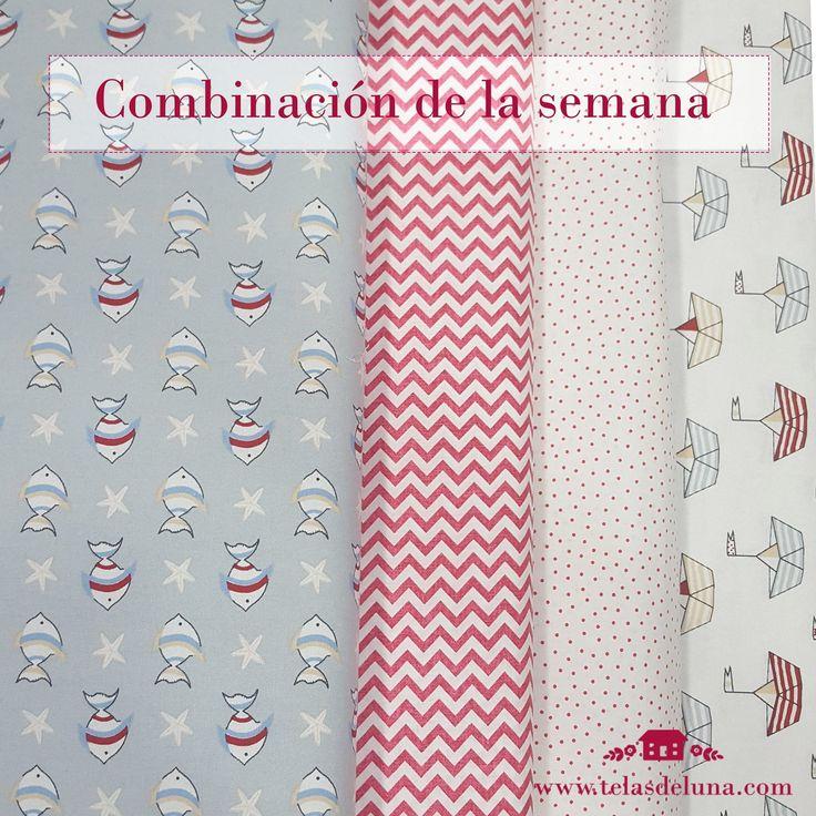 Combina telas patchwork con nosotras! Combina los colores y estampados que más te inspiran de cara al verano. www.telasdeluna.com