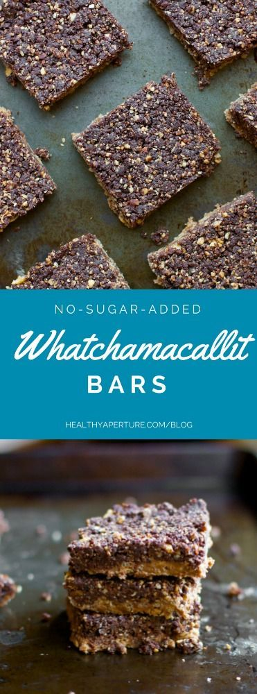 A tasty, clean eating alternative to a childhood favorite candy bar -- Whatchamacallits. @ReganJonesRD makes these with peanut butter, whole grain cereal, dried fruit and unsweetened chocolate, this no bake dessert is as simple as it is delicious.