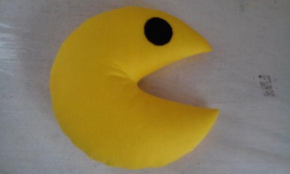 almofada de feltro Pacman