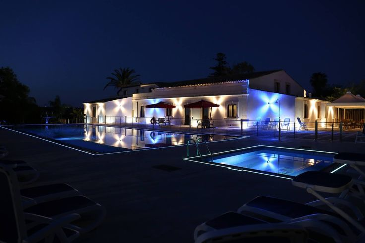 Our residence at night