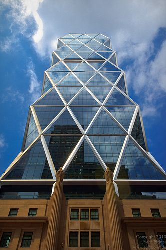 The Hearst Tower in New York City and it is the world headquarters of the Hearst…