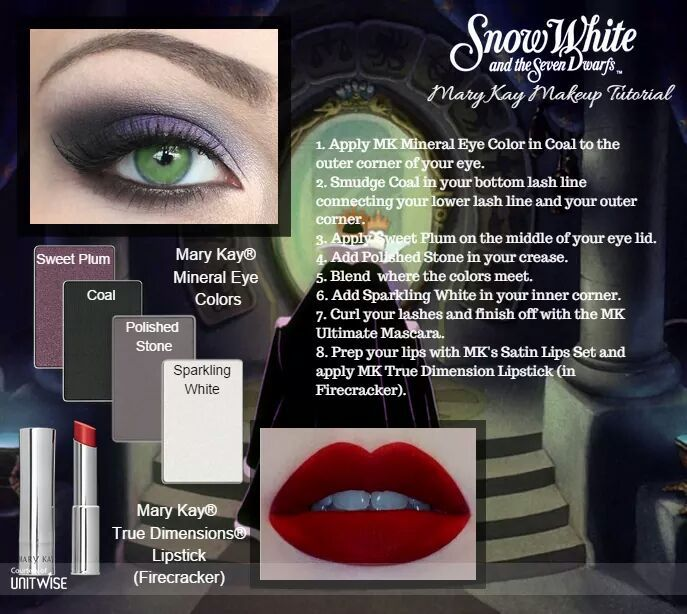 Disney Villain The Evil Queen, Snow White, inspired Mary Kay Look! http://www.marykay.ca/smcneely
