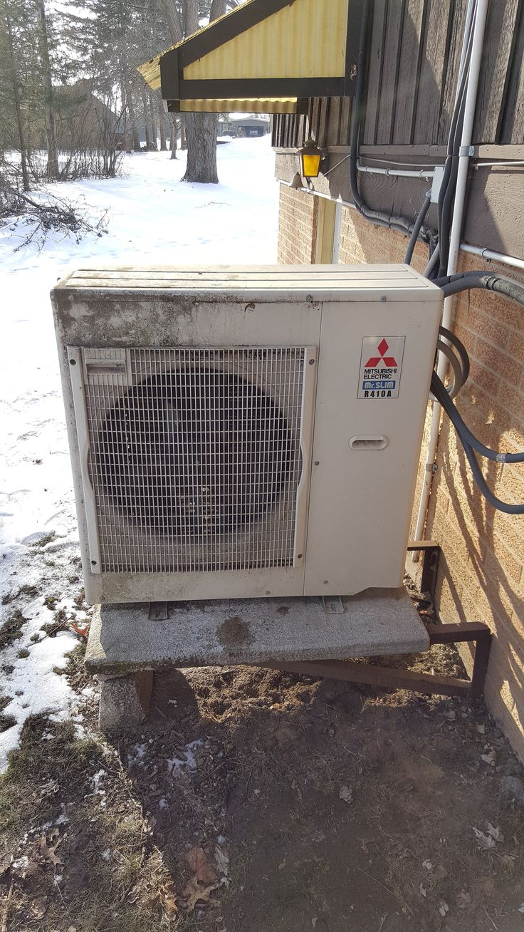 BEFORE 9 yr old 3 Zone Mitsubishi heat pump system