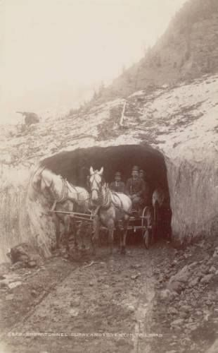 Snow Tunnel ~ On the Ouray and Silverton Toll Rd ~ Colorado ~ 1888: