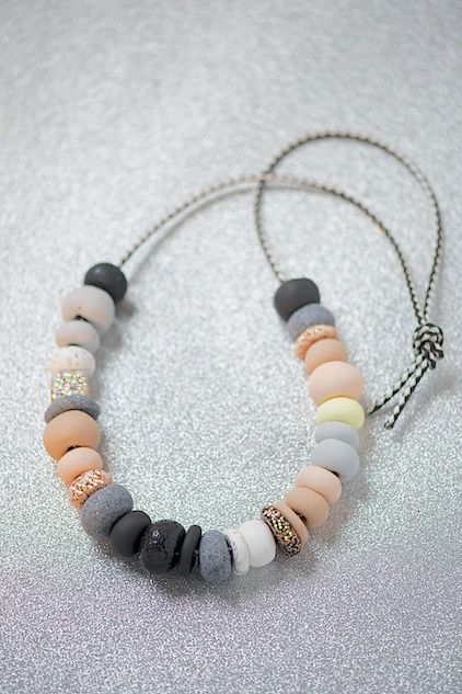 #Polymer Clay Beads necklace #DIY