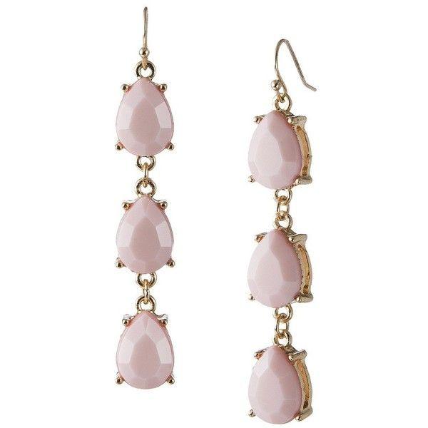 3 Tier Teardrop Earrings - Pink (€3,25) ❤ liked on Polyvore featuring jewelry, earrings, polish jewelry, fishhook earrings, fish hook earrings, stainless steel earrings and fish hook jewelry