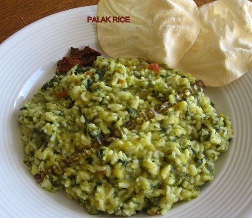 79 best indian rice varieties images on pinterest indian food spinach rice palak kichadi keerai pongal forumfinder Images