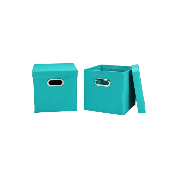 Household Essentials 2-pk. Collapsible Storage Bins, Turquoise/Blue (Turq/Aqua)