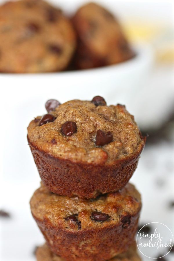 Grain-Free Banana Chocolate Chip Mini Muffins   Grain-free muffins   Gluten-free muffins   Paleo muffins   Dairy-free muffins   grain-free breakfast   gluten-free breakfast   paleo breakfast   dairy-free breakfast    The Real Food Dietitians #healthymuffins #glutenfreemuffins #paleomuffins #muffinrecipe
