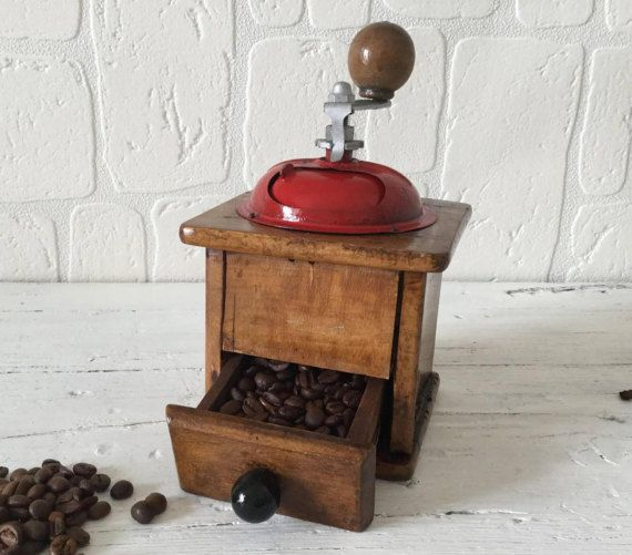Vintage Coffee Grinder Wooden Coffee Grinder Retro Coffee