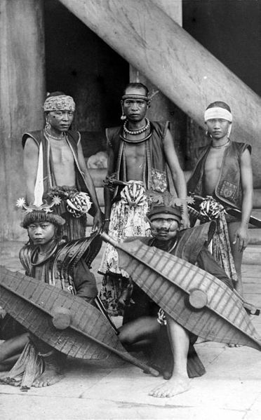 Indonesia, Nias warriors ~ Nīas (Indonesian: Pulau Nias, Nias language: Tanö Niha) is an island off the western coast of Sumatra, Indonesia. Nias (Kepulauan Nias) is also the name of the archipelago, including the small Hinako Islands.