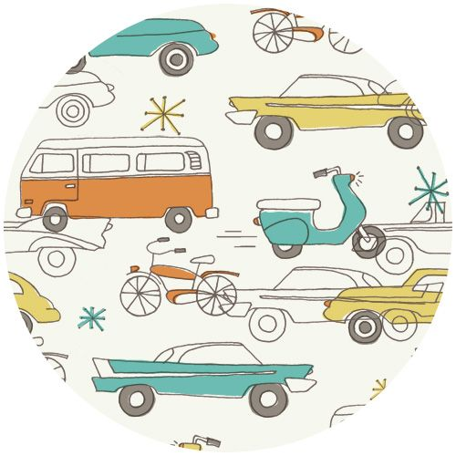 retro transportation fabric- organic cotton - so cute! $17/yd  http://www.fabricworm.com/moci52orcoca.html