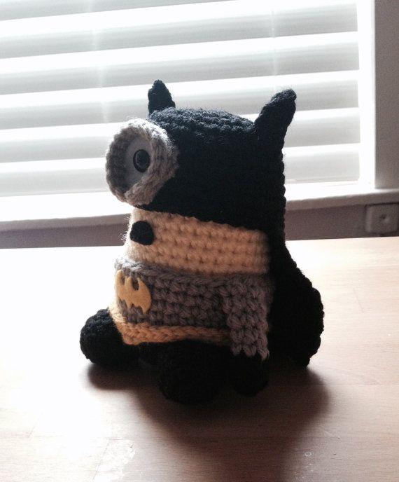 Batman Minion Completed Doll Stuff Toy Plush by JAMigurumi on Etsy, $30.00