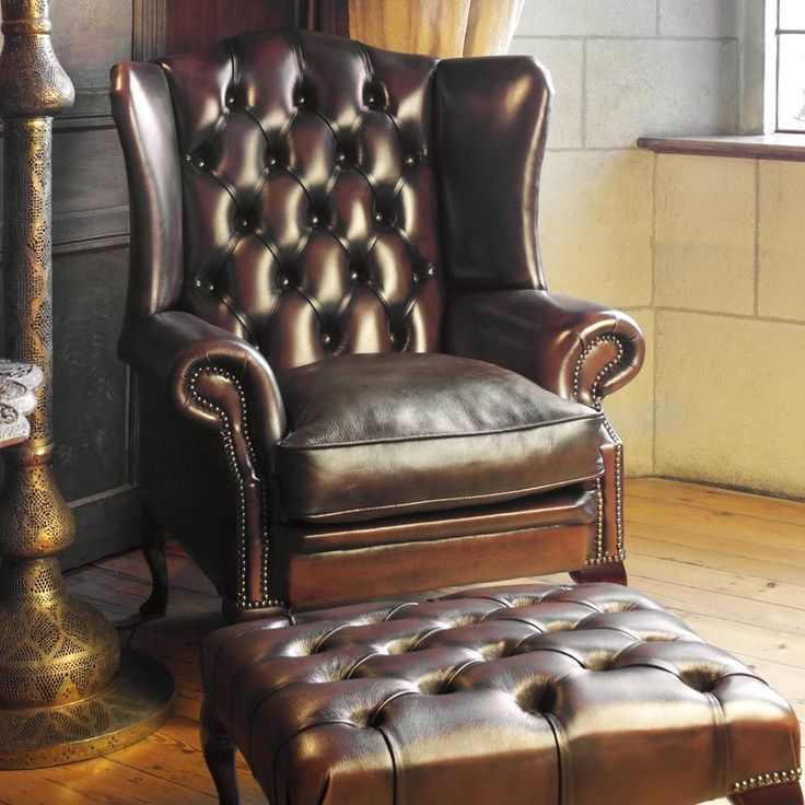Chesterfield Armchair / Leather / Wing STAMFORD Fleming U0026 Howland
