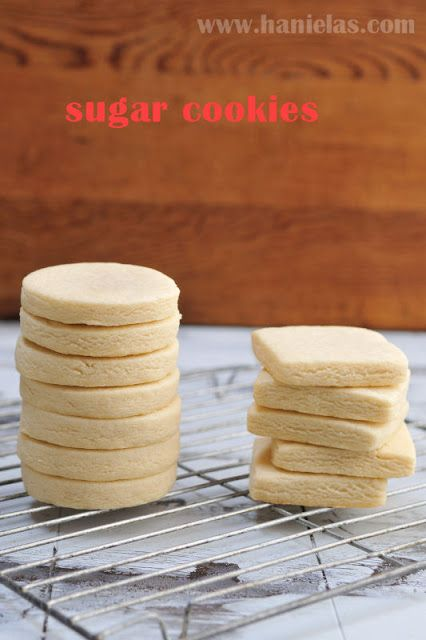 Haniela's: Sugar Cookie Recipe for Cut Out Cookies.....turned out really yummy and not brown! the recipe says to put cutouts into fridge for 15 minutes before baking and to cook 9-10 minutes but I skipped the fridge and baked for one minute less and it turned out great
