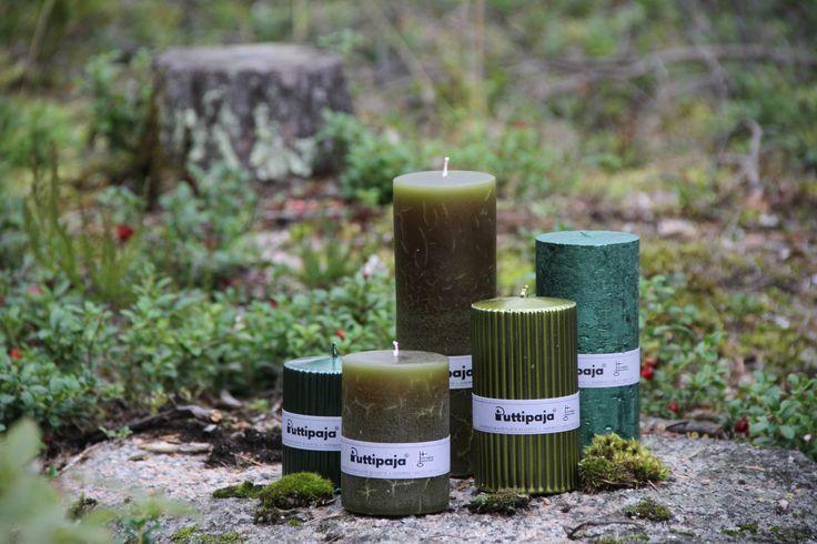 Luonnosta värien voimaa ja inspiraatiota. Sammaleen vihreä taittuu kauniisti eri muotosiin kynttilöihimme. Löydätkö tästä sinun suosikkisi?  Nämä ja muut syksyn kynttilävalikoiman värit löydät verkkokaupastamme: