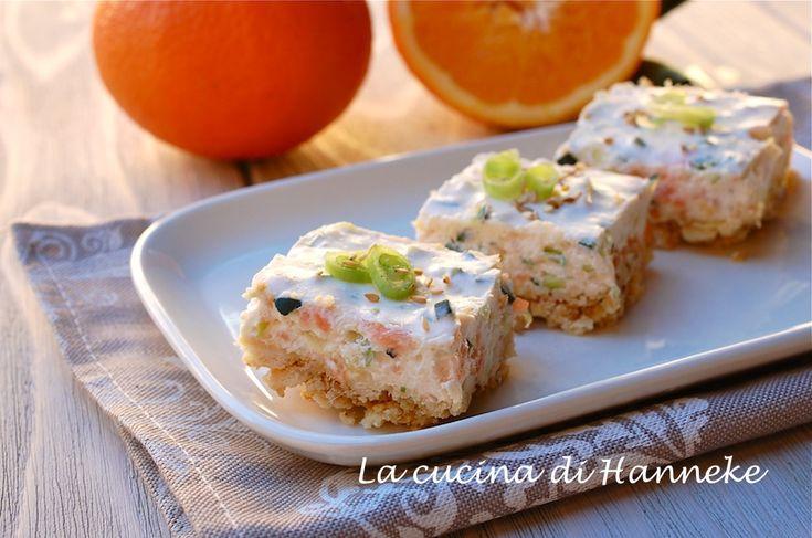 Grande successo ieri sera alla mia cena prenatalizia con gli amici: la cheesecake salata al salmone e zucchine è piaciuto tantissimo!