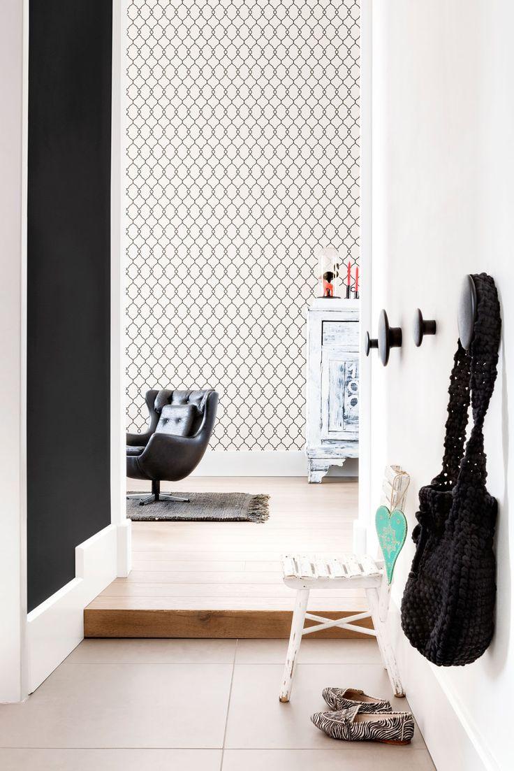 Zwart wit Behang Black white Wallpaper collection Art of Living - BN Wallcoverings