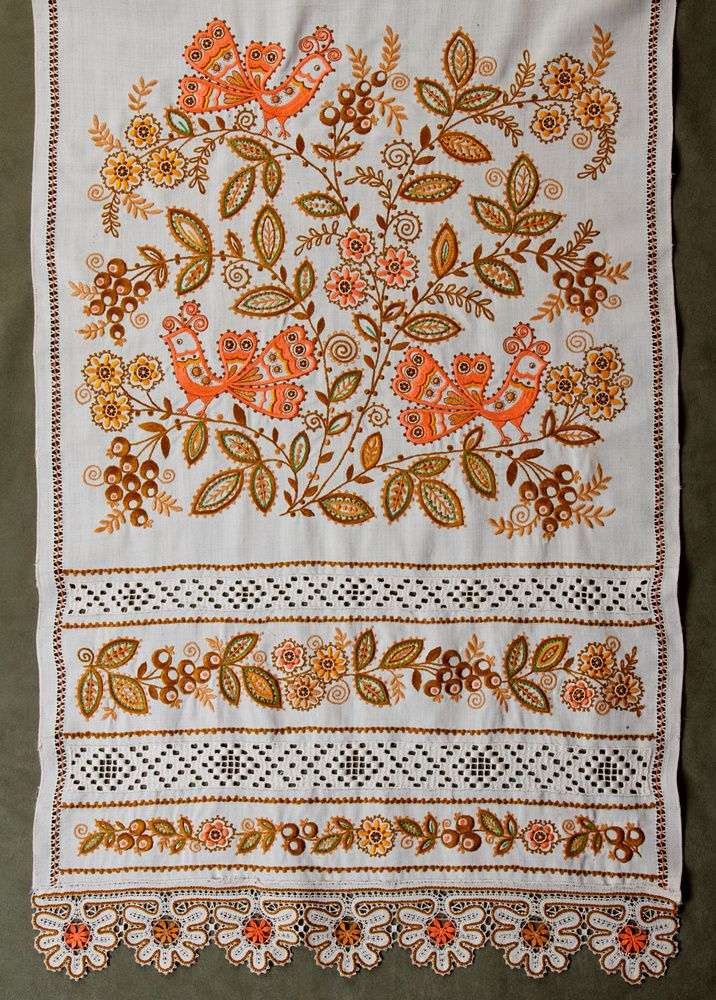 Traditional folk embroidery of Kirov Region Russia.