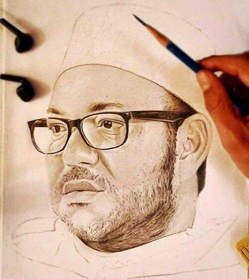 Magnifique portrait de SM Le Roi Mohamed 6 du Maroc