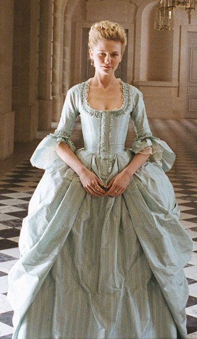 POLONAISE A hint of nationalism didn't stop Marie Antoinette (1755–1793) from adopting it as an informal costume over in France. Vive le Polonaise! Here's Kirsten in the 2006 film version in the style