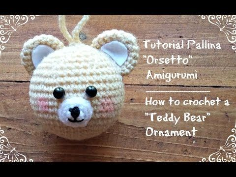 "Pallina di natale ""Pupazzo di neve"" Amigurumi   How to crochet a snowman christmas ornament - YouTube"