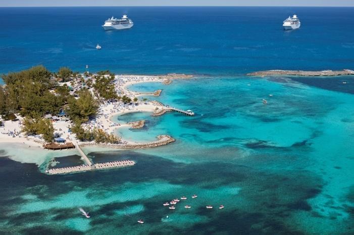 Aerial Shot Of CocoCay Bahamas